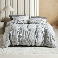 Aggie Printed Flannelette Quilt Cover Set