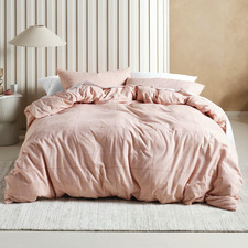 Rose Printed Flannelette Straten Cotton Quilt Cover Set