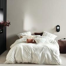 White Heather Cotton Quilt Cover Set