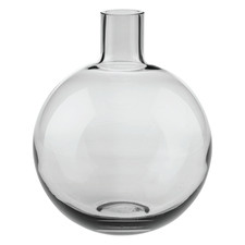 Black Holloway Glass Vase