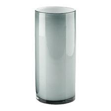 Silver Mirage Glass Vase