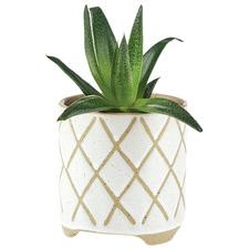 White Estrada Stoneware Planter Pot