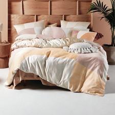 Sand Eisha Cotton Sateen Quilt Cover Set
