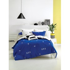 Blue Triplicity Quilt Cover Set