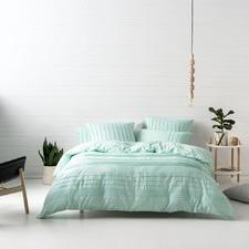 Aqua Cameron Cotton Quilt Cover Set