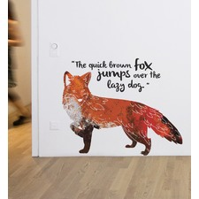 Quick Brown Fox Wall Decal