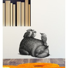 Wombat & 3 Kookas By Renee Treml Wall Decal