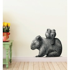 Wombat & 2 Galahs By Renee Treml Wall Decal
