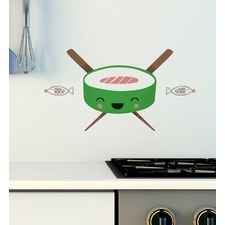 Happy Sushi Wall Decal