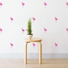 Mini Flamingos Wall Decal