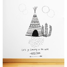 Lets Go Camping In The Wild Wall Decal