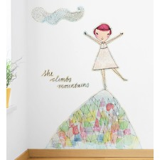 She Climbs Mountains Wall Decal