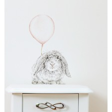Bunny With Balloon Wall Decal