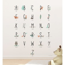 Woodland Animal Alphabets Wall Decal