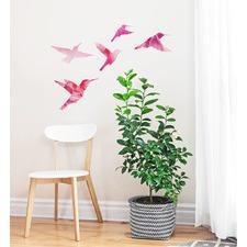 Watercolor Bird Family Wall Decal