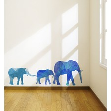 Watercolor Elephant Family Wall Decal
