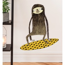 Surfing Sloth Wall Decal