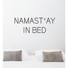 Namastay In Bed Wall Decal