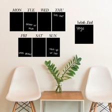 Weekday Blackboard Set Of 8 Wall Decal