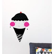 Ice Cream Monochromatic Wall Decal