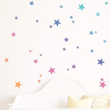 Rainbow Gradient Stars Wall Decal
