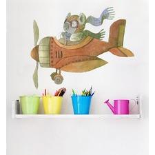 Koala Flying Plane Wall Sticker