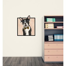 Boston Terrier with Glasses Wall Sticker