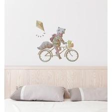 Bike Delivery Raccoon Wall Sticker