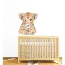 Lion Cub Face Wall Sticker