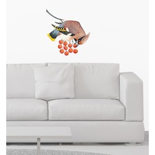 Bohemian Waxwing Bird Wall Sticker