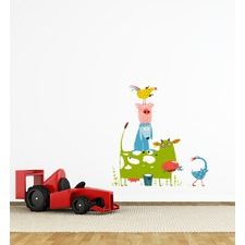 Stacked Farm Animals Wall Sticker