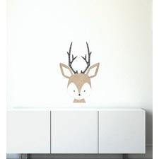 Fuzzy Deer Face Wall Sticker