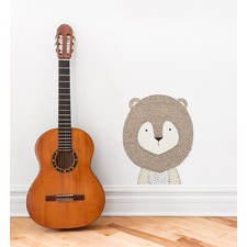 Grizzly Bear Face Wall Sticker