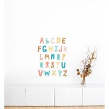 Clear Cozy Cloud Alphabet Wall Sticker