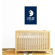 Love You To The Moon & Back Wall Sticker