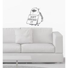 Not Having It Pug Wall Sticker