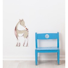 Young Deer With Bird On Back Wall Sticker
