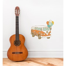 Van With Balloons Wall Sticker