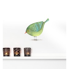 Green Bird Wall Sticker