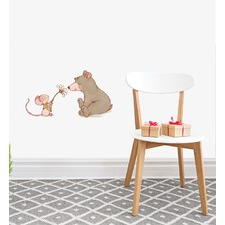 Bear With Mouse Wall Sticker