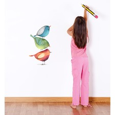 Three Birds Stacked Up Wall Sticker