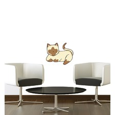 Cat With Cute Face Wall Sticker