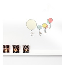 Four Bunnies With Balloons Wall Sticker