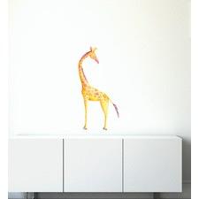 Big Giraffe Looking Around Wall Sticker
