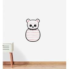 Round Circus Panda Wall Sticker