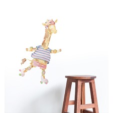 Ellie The Rollerskating Giraffe Wall Sticker