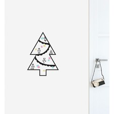 Simple Christmas Tree Wall Sticker