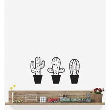 A Pack Of Fun Cacti Wall Sticker