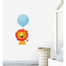 Lion With Big Balloon Wall Sticker