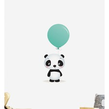Panda With Big Balloon Wall Sticker
